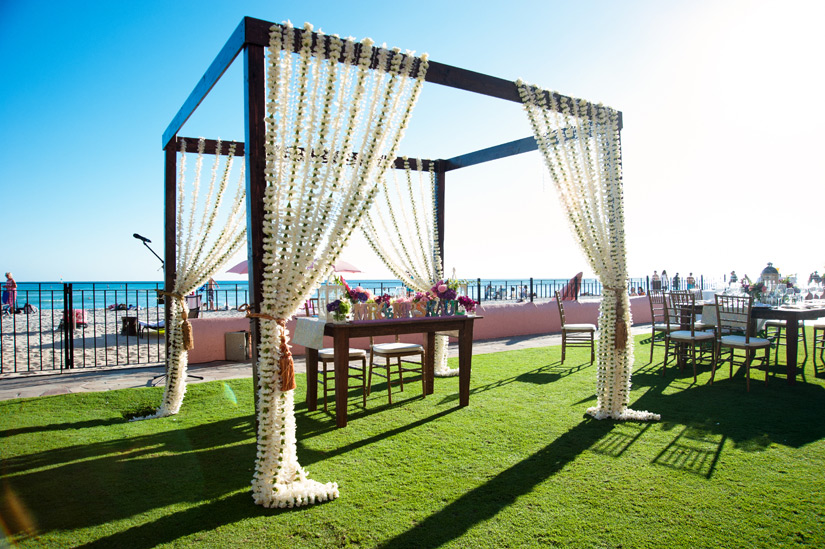Modern Indian Wedding Mandap at the Royal Hawaiian
