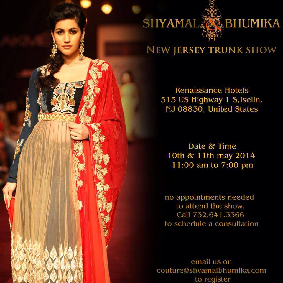 1cc058643 Glam Alert: Shyamal & Bhumika Present a New Jersey Trunk Show ...