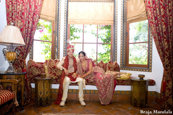 Braja,Mandala,Wedding,Photography,indian-wedding-bride-groom-couple-red
