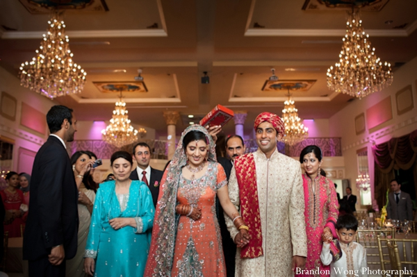 Shimmering Pakistani Wedding in Peach and Pale Blue by ...