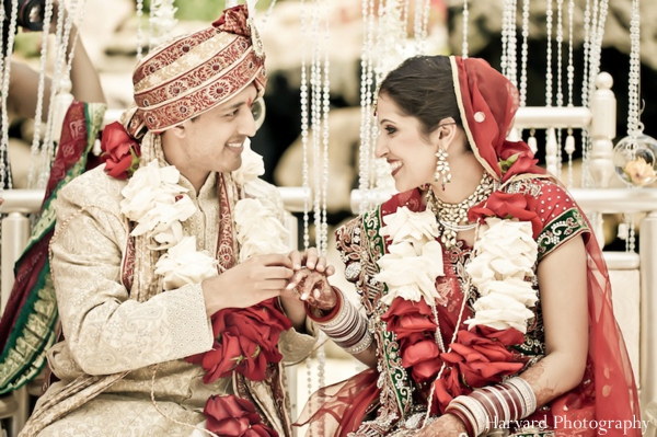 bride,and,groom,at,wedding,ceremony,Harvard,Photography,indian,wedding,ceremony,indian,wedding,traditional,ceremony,portraits,traditional,dress,for,bride,and,groom