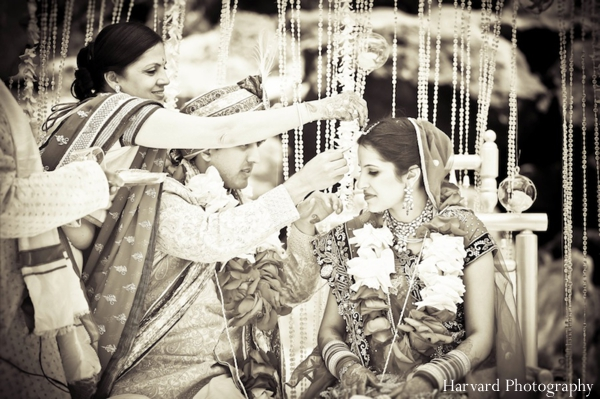 ceremony,Harvard,Photography,indian,couple,at,ceremony,indian,wedding,ceremony,jai,malas,traditional,customs,traditional,wedding,jai,mala,wedding,ceremony,rituals