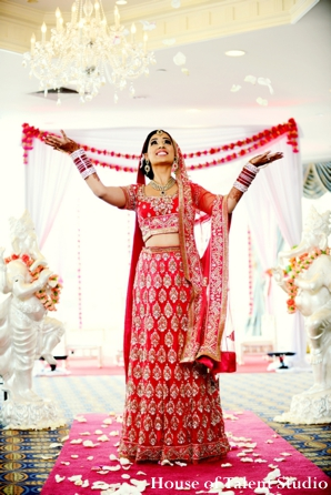 Bridal,Fashions,indian-wedding-bride-beautiful-traditional-lengha-portrait-red