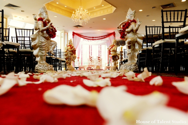 Ceremony,indian-wedding-ceremony-venue-mandap-red