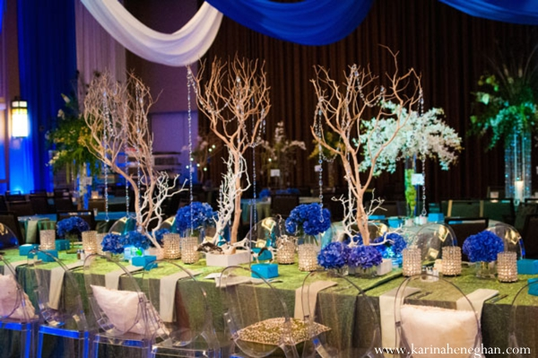 Perfectly peacock indian wedding by karina heneghan estes for Venue decoration