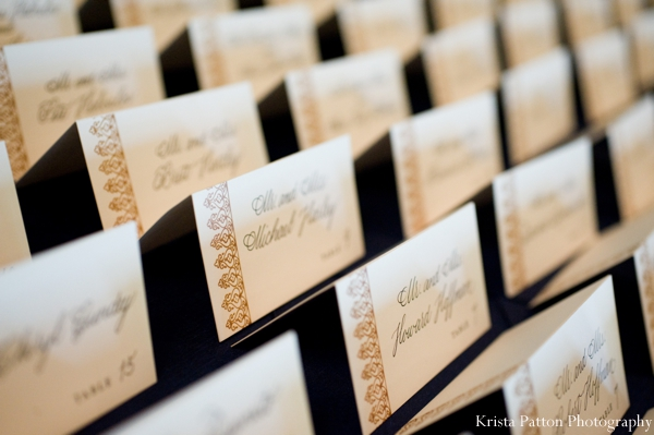 Indian Wedding Reception Stationary Name Cards For Seating