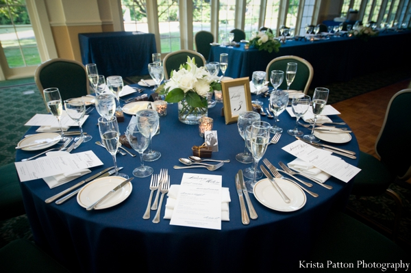 deep,blue,tablecloth,Floral,&,Decor,ideas,for,indian,fusion,wedding,reception,indian,fusion,reception,indian,fusion,table,setting,ideas,indian,fusion,wedding,reception,inspiration,and,ideas,for,indian,wedding,reception,Krista,Patton,Photography,Planning,&,Design,reception,table,setting,round,table,settings