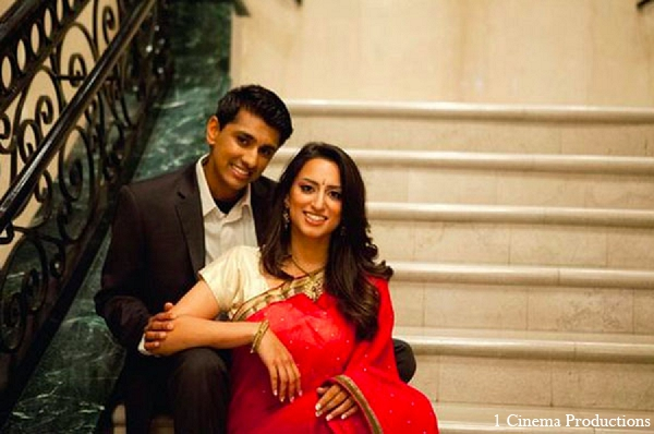 Indian bride groom engagement photography in Sunday Sweetheart Winners ~ Amisha & Roshan by 1 Cinema Productions