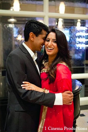 Indian engagement bride portraits groom in Sunday Sweetheart Winners ~ Amisha & Roshan by 1 Cinema Productions