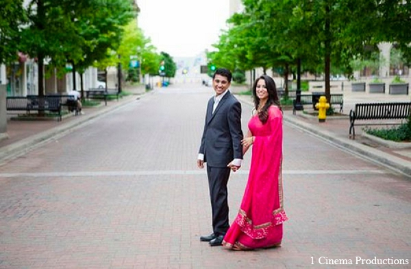 Indian engagment photography bride groom in Sunday Sweetheart Winners ~ Amisha & Roshan by 1 Cinema Productions