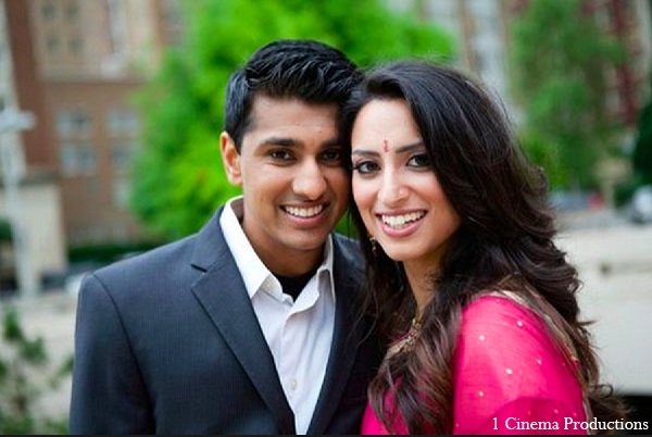 Indian engagment photography groom bride in Sunday Sweetheart Winners ~ Amisha & Roshan by 1 Cinema Productions