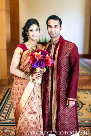 Indian wedding bridal portrait bridal bouquet