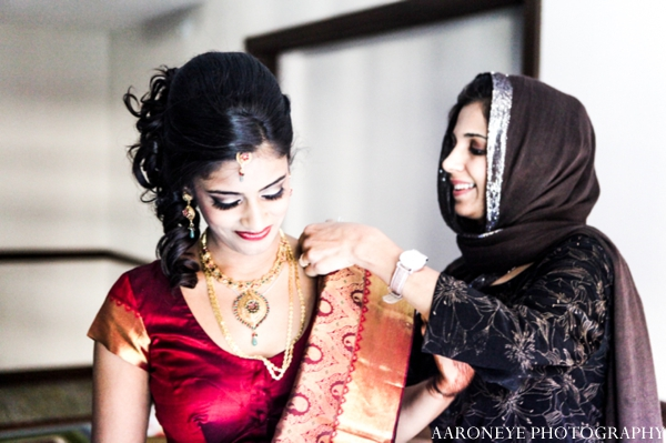 Indian wedding bridal prep ceremony