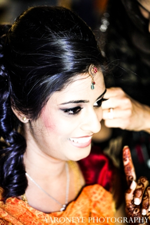 Indian wedding bride ceremony hair makeup