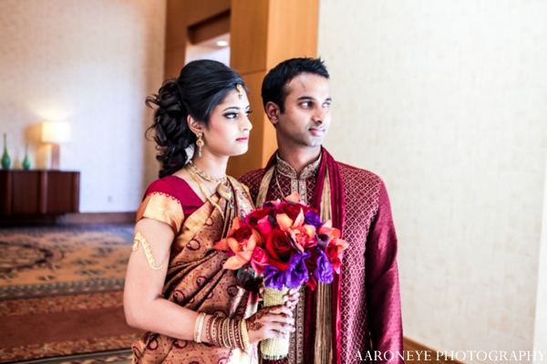 Indian wedding bride groom bouquet