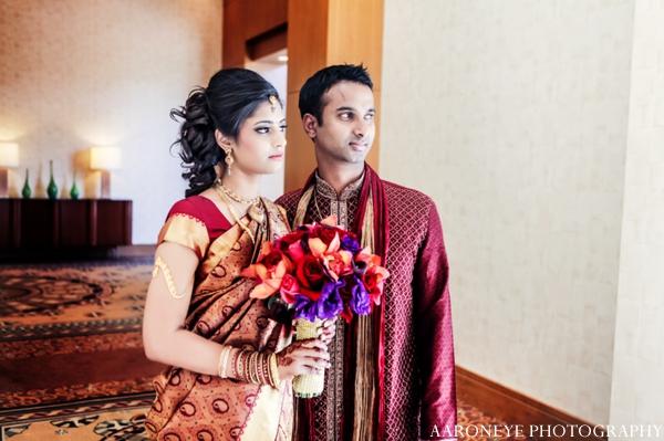 Indian wedding bride groom bridal bouquet