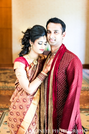 indian wedding bride groom ceremony portrait