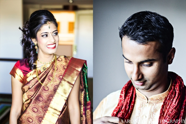 Indian wedding bride groom ceremony prep portraits