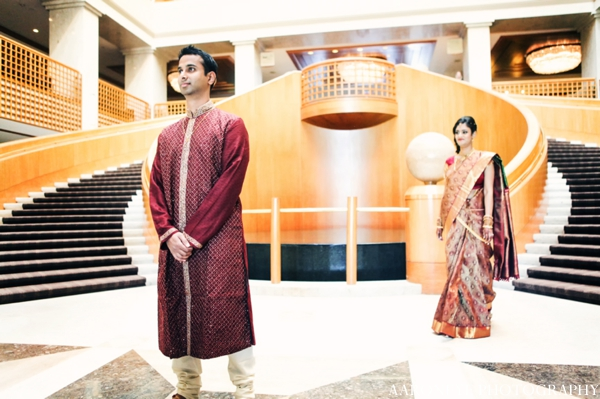 Indian wedding bride groom portrait ceremony