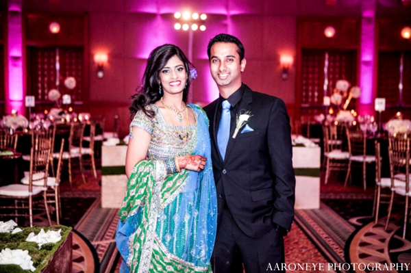 Indian wedding bride groom reception lighting