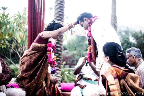 Indian wedding bride groom traditional customs outdoor ceremony