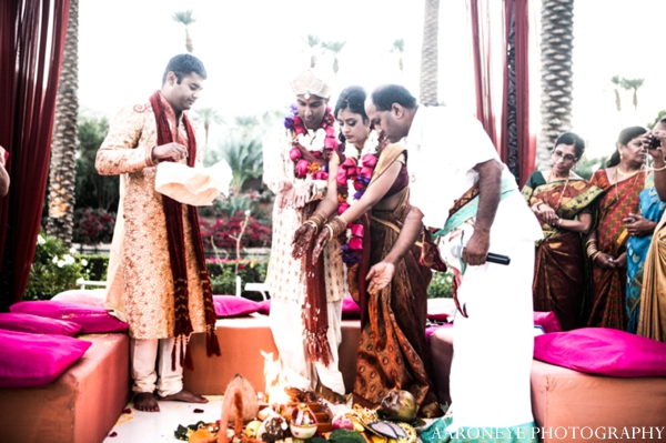 Indian wedding ceremony bride groom customs outdoor ceremony
