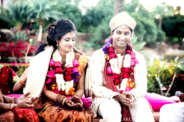 Indian wedding ceremony bride groom jai malas