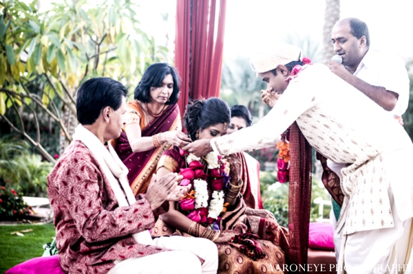 Indian wedding ceremony bride groom outdoors