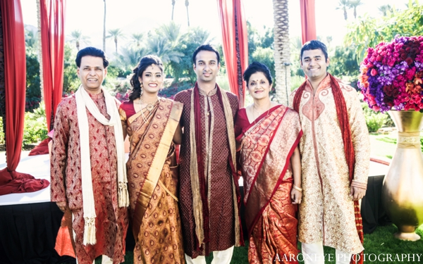 Indian wedding ceremony portrait outdoors