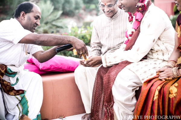 Indian wedding ceremony rituals performed