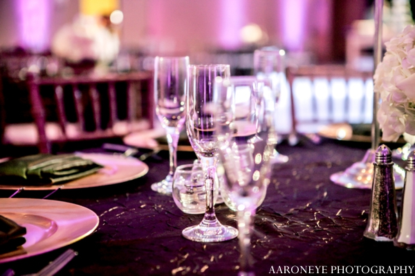 Indian wedding decor reception glasses