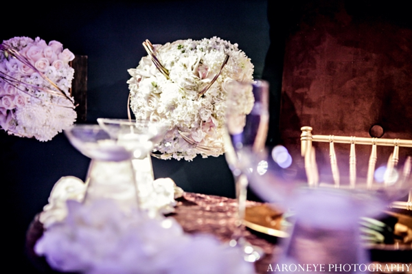 Indian wedding floral decor centerpiece
