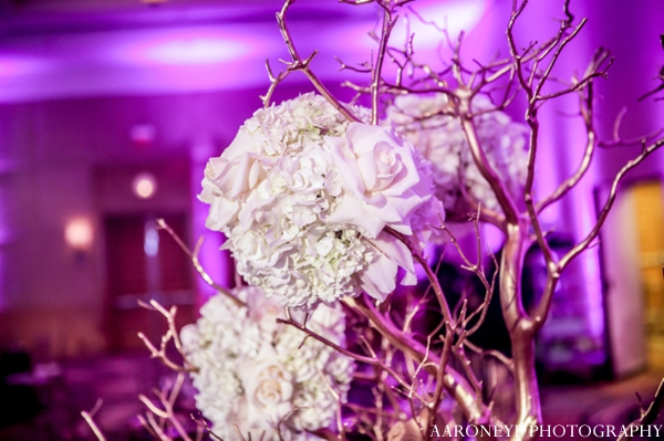 Indian wedding floral decor reception lighting