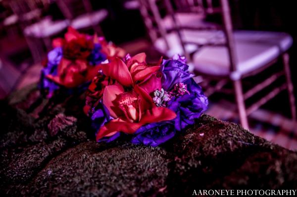 Indian wedding floral decor reception