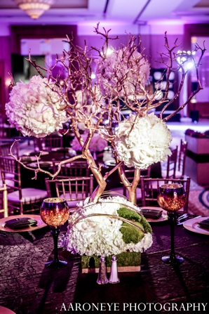 Indian wedding lighting floral decor reception