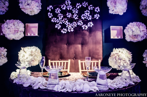 Indian wedding sweethearts table decor floral inspiration