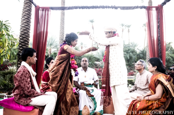 Indian wedding traditional customs performed mandap