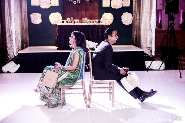 Indian wedding reception bride groom dance floor