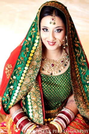 Indian bride clothing in Huntington Beach, California Sikh Wedding by Aaroneye Photography
