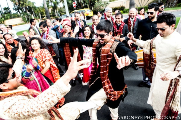 Indian wedding baraat in Huntington Beach, California Sikh Wedding by Aaroneye Photography