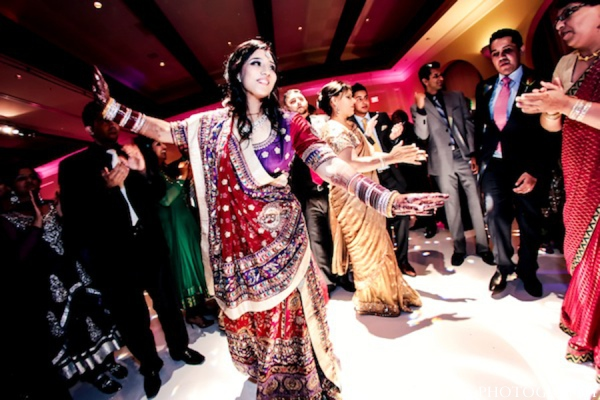 Indian wedding bride reception gown in Huntington Beach, California Sikh Wedding by Aaroneye Photography