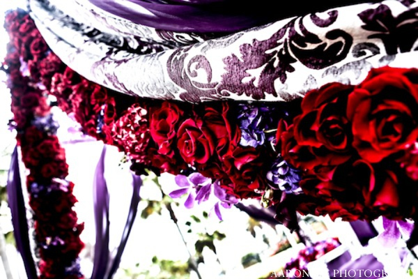 Indian wedding decor in Huntington Beach, California Sikh Wedding by Aaroneye Photography