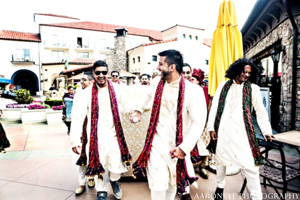 Indian wedding groomsmen in Huntington Beach, California Sikh Wedding by Aaroneye Photography