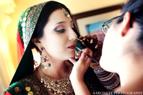Indian wedding hair makeup in Huntington Beach, California Sikh Wedding by Aaroneye Photography