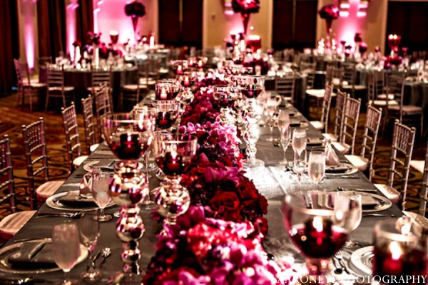 Indian wedding reception floral in Huntington Beach, California Sikh Wedding by Aaroneye Photography