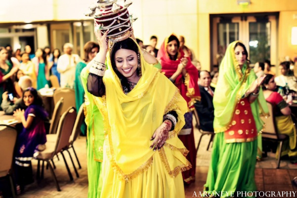 Sikh sangeet customs in Huntington Beach, California Sikh Wedding by Aaroneye Photography