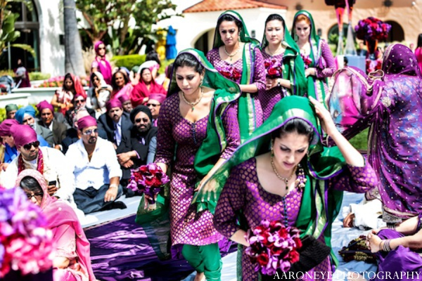 Sikh wedding bridemaids in Huntington Beach, California Sikh Wedding by Aaroneye Photography