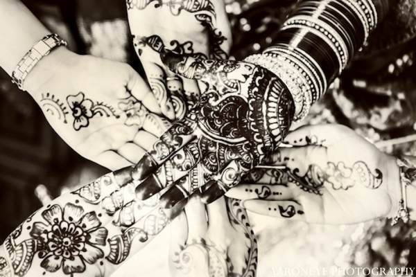 Traditional mehndi designs in Huntington Beach, California Sikh Wedding by Aaroneye Photography