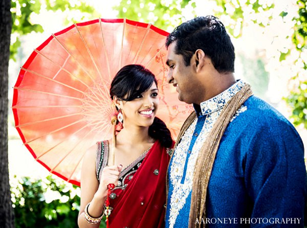 Indian wedding bride groom portraits in Sweetheart Sunday Winners ~ Rekha & Rajneel by Aaaroneye Photography