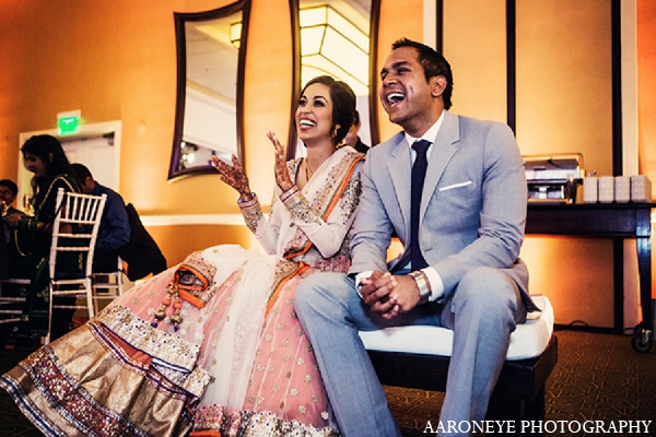 Indian bride groom wedding reception in Newport Beach, California Indian Wedding by Aaroneye Photography
